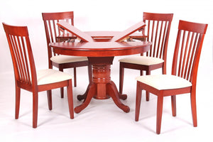 The Leicester Range - Mahogany Solid Rubberwood Dining Set