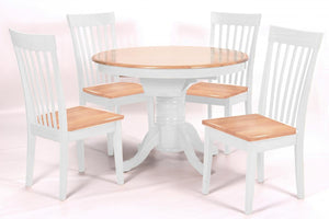 The Leicester Range - White Solid Rubberwood Dining Set
