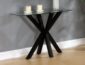 The Langley Range - Black Gloss Glass Console Table