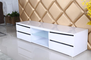 The Leona Range - White and Black High Gloss Media Unit
