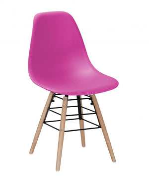 The Lilly Range - Pink Plastic Dining Chairs