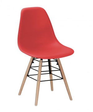 The Lilly Range - Red Plastic Dining Chairs