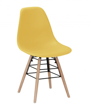 The Lilly Range - Yellow Plastic Dining Chairs