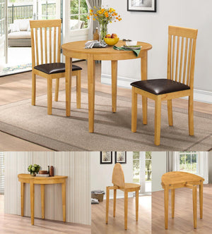 The Lunar Range - Light Oak Solid Wood Dining Chairs