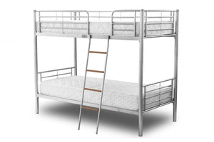The Melvin Range - Silver Metal Bunk Bed