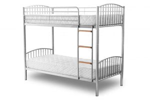 The Montreal Range - Silver, Black, White Metal Bunk Bed