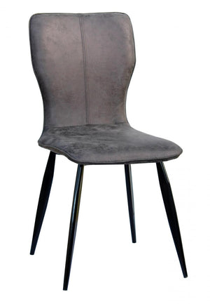 The Manhattan Range - Grey and Black PU Leather Dining Chairs