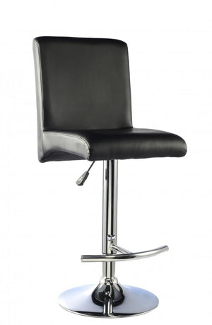 The Manor Range - Black and Chrome Bar Stool