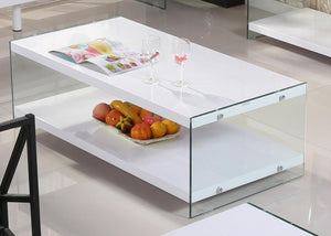 The Marco Range - White Glass High Gloss Coffee Table