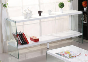The Marco Range - White Glass High Gloss Sideboard