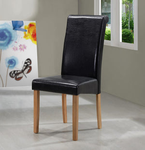 The Marley Range - Solid Rubberwood PU Leather Dining Chairs