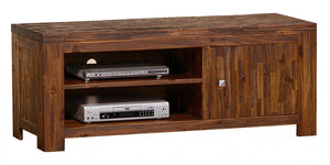 The Martello Range - Dark Brown Solid Acacia Wood Media Unit