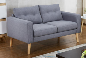 The Megan Range - Grey Fabric Two Seater Sofa