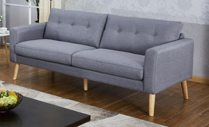 The Megan Range - Grey Fabric Three Seater Sofa