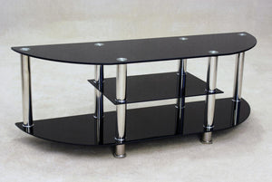 The Metro Range - Black Glass Chrome Media Unit