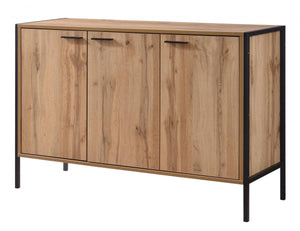 The Michigan Range - Oak Effect Metal Frame Cabinet