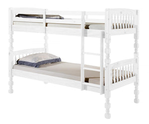 The Milano Range - Whitewashed Solid Pine Bunk Bed