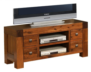 The Monaco Range - Rich Brown Solid Acacia Media Unit