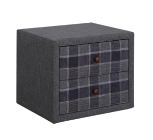 The Nepal Range - Grey Fabric Bedside Table