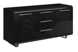 The Newline Range - Black High Gloss Sideboard