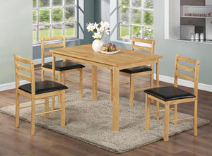 The Nice Range - Natural Oak Solid Rubberwood Dining Chairs