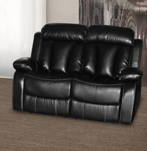 The Ohio Range - Black or Grey Bonded Leather and PU Leather Two Seater Sofa