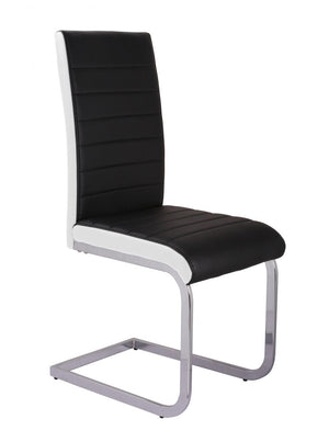 The Ryker Range - Chrome PU Leather Dining Chairs