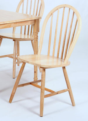 The Sutton Range - Light Pine Solid Rubberwood Dining Chairs