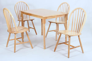 The Sutton Range - Light Pine Solid Rubberwood Dining Sets