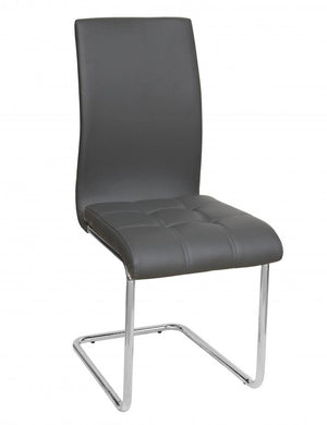 The Samurai Range - Grey PU Leather Dining Chairs