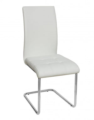 The Samurai Range - White PU Leather Dining Chairs