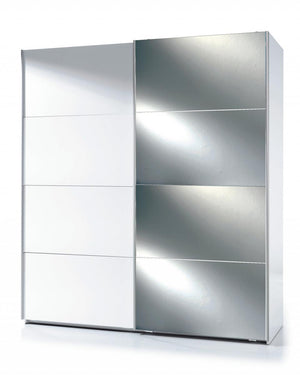 The Arctic Range - White Mirrored High Gloss Wardrobe