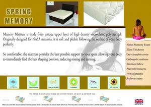 The Memory Spring Range - Double Mattress