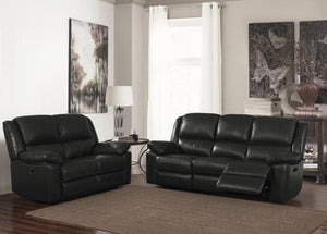 The Toledo Range - Leather and PVC Two Seater Sofa