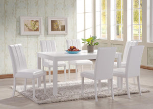 The Trogon Range - White Solid Rubberwood Dining Set