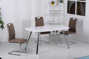The Vera Range - Chrome PU Leather Dining Chairs