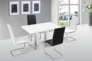 The Walton Range - White High Gloss Dining Set