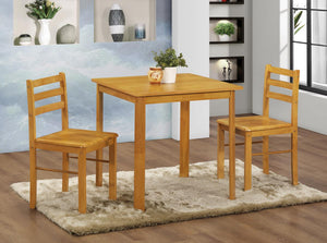 The York Range - Natural Oak Solid Rubberwood Dining Set