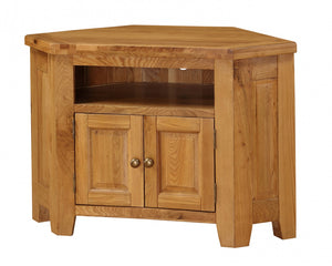 The Acorn Range - Solid Oak Media Unit