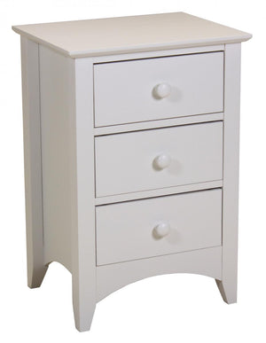 The Chelsea Range - White Solid Wood Bedside Table