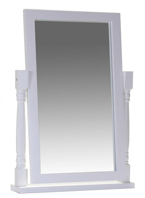 The Chelsea Range - White Solid Wood Mirror