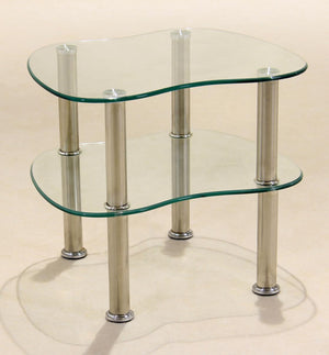 The Hudson Range - Clear Glass and Chrome Lamp Table