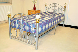 The Juliana Range - Black, Silver, or White Metal Double Bed