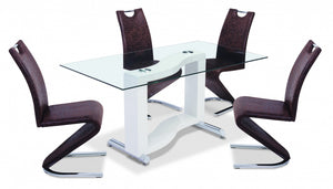 The Kingsway Range - White Glass High Gloss Dining Table