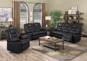 The Kirk Range - Black or Chocolate Brown Bonded PU Leather Two Seater Sofa