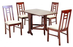 The Liverpool Range - Chestnut Brown Solid Rubberwood Dining Chairs