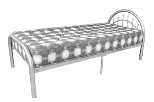 The Morning Range - Silver Metal Single Bed