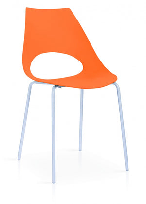 The Orchard Range - Orange Plastic Dining Chairs