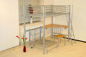 The Study Range - Silver Metal Bunk Bed