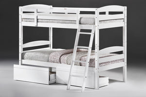 The Tripoli Range - White Solid Wood Bunk Bed